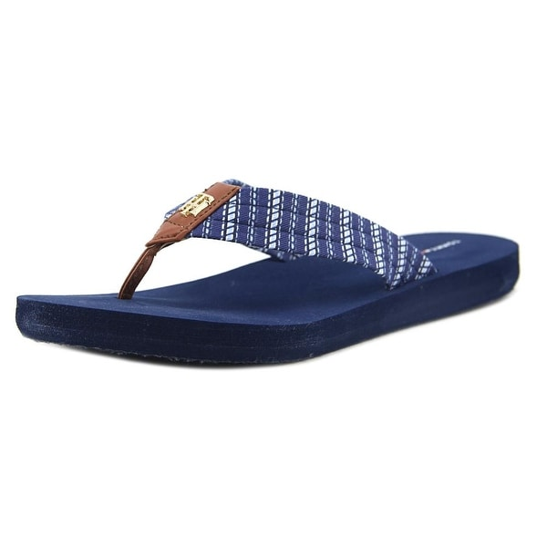 Tommy Hilfiger Caged Flip Flop Women Open Toe Synthetic Blue Flip Flop Sandal
