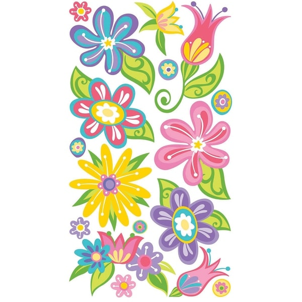 Sticko Stickers-Small Fanciful Flowers