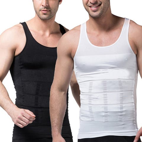f76583cc53d Men s Slimming Body Shaper Waist Training Corset Tank Top Vest Shapewear