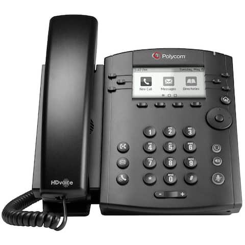 Refurbished Polycom VVX 310 2200-46161-025 6-line Entry-Level Business Media Phone with Gigabit Ethernet