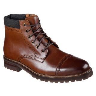 Mark Nason Los Angeles Men's Parker Ankle Bootie, Cognac|https://ak1.ostkcdn.com/images/products/is/images/direct/e9281aa4409dfb8b98a38292b98cb90d72b70a73/Mark-Nason-Los-Angeles-Men%27s-Parker-Ankle-Bootie%2C-Cognac.jpg?impolicy=medium