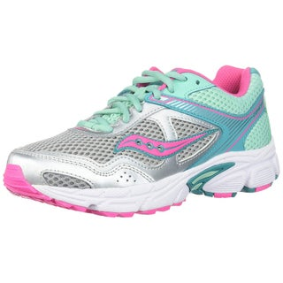 Kids Saucony Girls Cohesion Leather Low Top Lace Up Walking Shoes