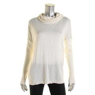 Lauren Ralph Lauren Womens Pullover Sweater Silk Blend Knit Turtleneck