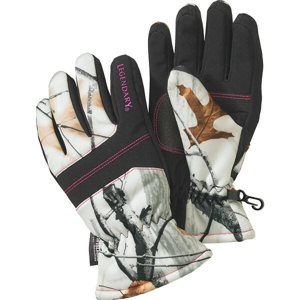 Legendary Whitetails Ladies Snowdrift Gloves - big game snow camo