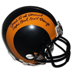 1677409f2dd Shop Dick Vermeil signed St Louis Rams TB Replica Mini Helmet w dual Coach  Super Bowl 30IV Champs - Free Shipping Today - Overstock - 19873268