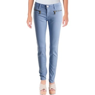 MICHAEL Michael Kors Womens Izzy Skinny Pants Mid-Rise Zipper Pockets