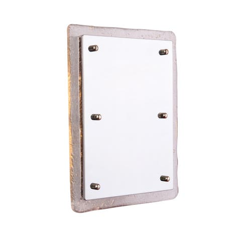 """Craftmade ICH1715 Illuminated 7"""" x 5"""" Recessed Door Chime with Artisan Glass - - Chrome"""