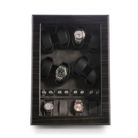 Louis Ash Wood High Laqcuer Eight Watch Winder and Storage Case