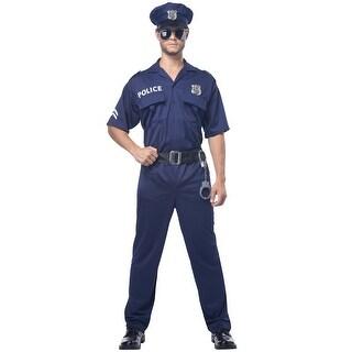 California Costumes Adult Cop Costume - Blue