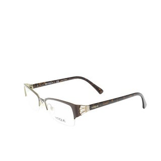 Vogue VO4014B 934 Brown Rectangle Optical Frames - 52-18-135