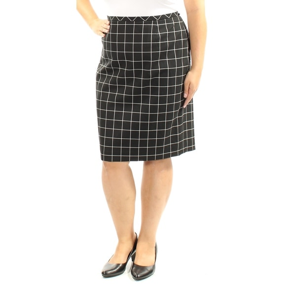 bdf678ae7abd Shop TOMMY HILFIGER Womens Black Plaid Knee Length A-Line Wear To Work Skirt  Size: 16 - Free Shipping On Orders Over $45 - Overstock - 21271752