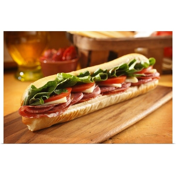 """An Italian sub sandwich"" Poster Print"