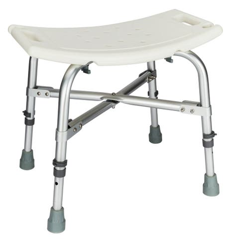 Heavy Type Adjustable Aluminum Alloy Shower Chair for the Old/Pregnant