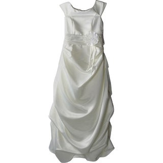 Kid Collection Girls Big Kid Satin Special Occasion Dress - 14