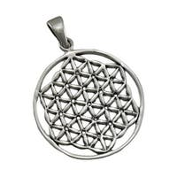 Sterling Silver Flower of Life Pendant / Charm New Age