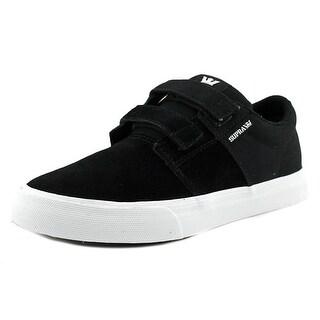Supra Stacks II Vulc Strap Boy Black-White Athletic Shoes
