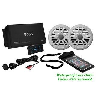 "Boss marine package 500W Bluteooth Amp one pair 6.5"" Speakers"