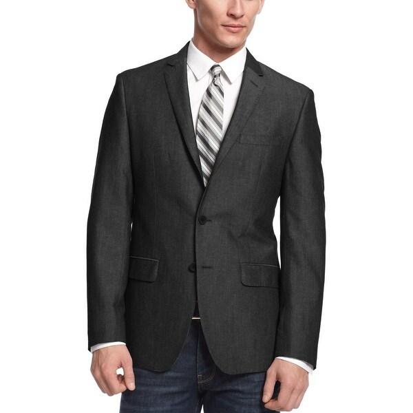 dark grey blazer with jeans