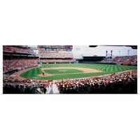 Poster Print entitled Great American Ballpark Cincinnati OH - multi-color