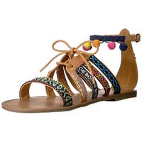 Indigo Rd. Women's baria Flat Sandal - Pink/Multi
