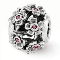 Sterling Silver Reflections Swarovski Elements Blossoms Bead (4mm Diameter Hole)
