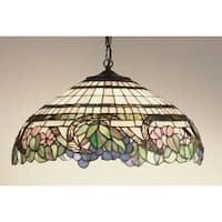 "Meyda Tiffany 32176 1-Light 18"" Wide Pendant with Handmade Shade - tiffany glass"