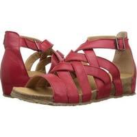 Haflinger Womens Stella Leather Open Toe Casual Sport Sandals