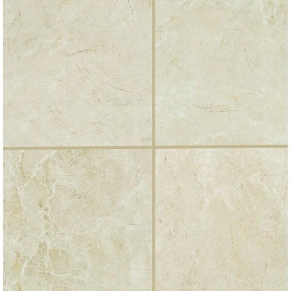 Mohawk Industries 16158 Crema Marfil Porcelain Floor Tile 18 Inch X 1