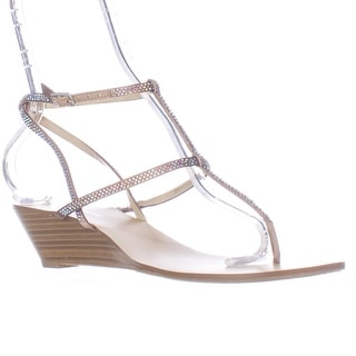 I35 Marg Wedge Sprakle T-Strap Sandals - Dune