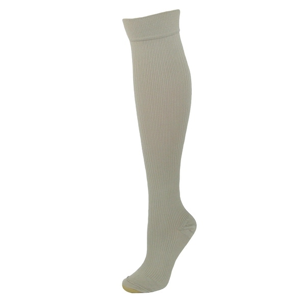 Gold Toe Women's Moderate Compression Ribbed Over the Calf Socks