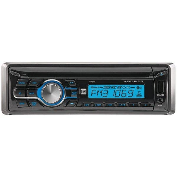 Dual XD250 Single-DIN In-Dash CD Receiver with USB