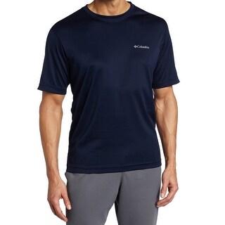 Columbia NEW Blue Omni-Wick Medium M S/S Crewneck Athletic T-Shirt