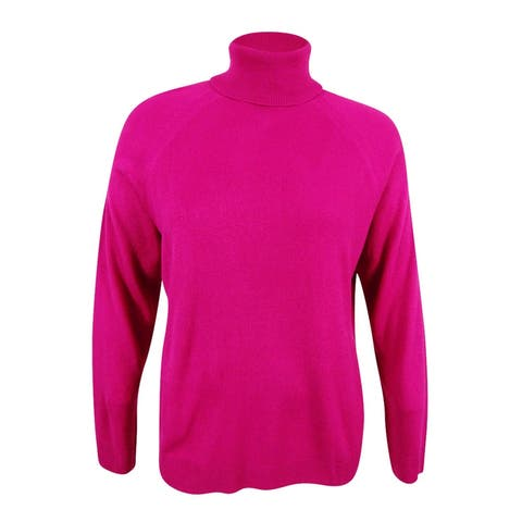 Karen Scott Women's Plus Size Luxsoft Turtleneck Sweater