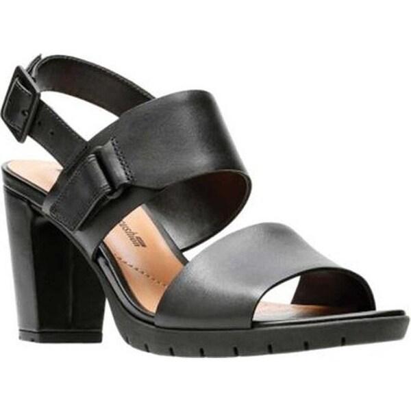 88991214ab75 Shop Clarks Women s Kurtley Shine Slingback Black Full Grain Leather ...