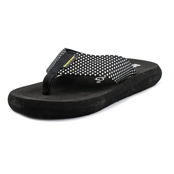 Rocket Dog Spotlight Play Women Open Toe Synthetic Black Flip Flop Sandal