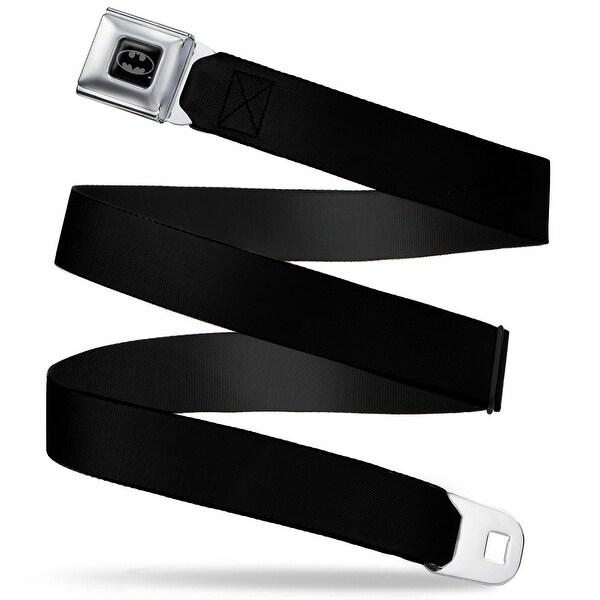 Batman Full Color Black Silver Black Webbing Seatbelt Belt Fashion Belt Standard