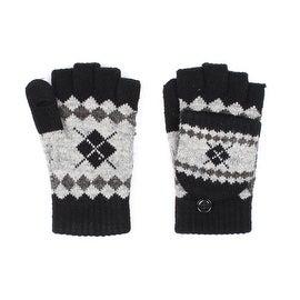 Unisex Skiiers Diamond Fingerless Mitten Gloves