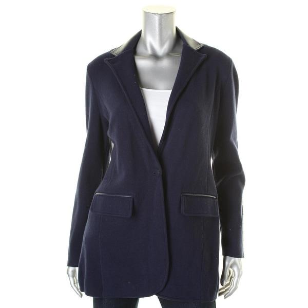 New Ralph Lauren Medium Black Faux Fur Hooded Womens