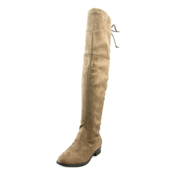 Kensie Theresa Women Round Toe Synthetic Brown Over the Knee Boot