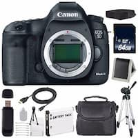 Canon EOD 5D III Digital Camera International Model + LP-E6 Battery + 64GB SDXC Class 10 Memory Card Bundle