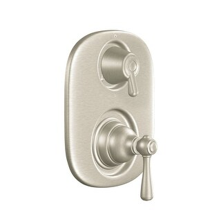 Moen T4111 Double Handle Moentrol Pressure Balanced with Volume Control and Integrated Diverter Valve Trim from the Kingsley