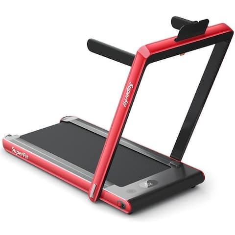 2 in 1 Under Desk Treadmill 2.25HP Folding Walking Jogging Machine