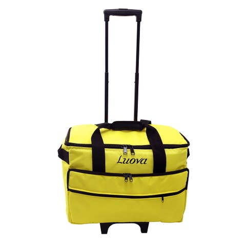"Luova 19"" Rolling Trolley in Meadowlark Yellow - 10"" x 19"" x 20"""