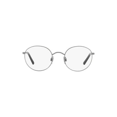 Dolce & Gabbana Men's DG1290 1305 50 Round Metal Black Clear Eyeglasses