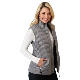 Roper Western Vest Womens Down Filled Zipper - gray