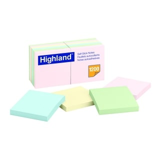 Shop Highland Self Stick Notes 3 X 3 Inches Pastel