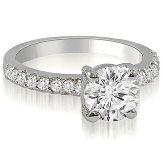 0.80 CT.TW Round Cut Diamond Engagement Ring in 14KT Gold - White H-I