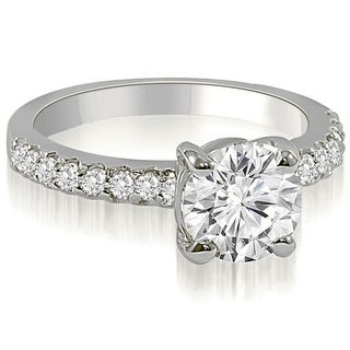 1.05 CT.TW Round Cut Diamond Engagement Ring in 14KT Gold - White H-I
