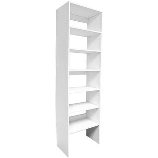 Modular Closets Wood Shelf Tower Closet Organizer Section