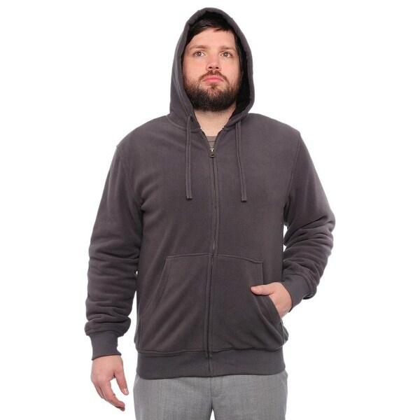 Weatherproof Front Pockets Zipper Basic Jacket Men Charcoal Coat